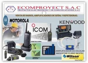 ecomproyect s.a.cl. venta y servicio técnico de equipos de radios portátiles