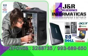 servicio técnico computación. j&r soluciones informáticas. servicio a domicilio